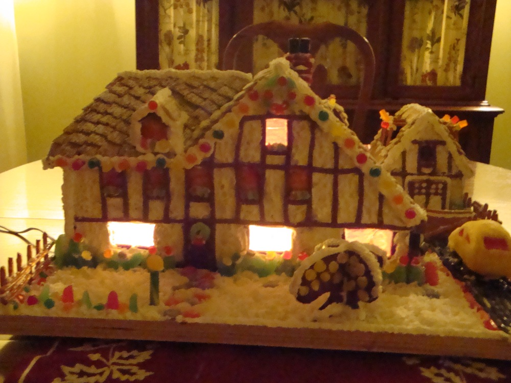Our House And More In Gingerbread  Judy Matusky RDN LDN - Gingerbread house garage